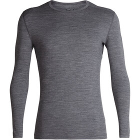 Icebreaker 200 Oasis Longsleeve Crew Top Heren, gritstone heather